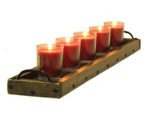 Candle Centerpiece Tray, Wooden Candle Holder, Table Centerpiece Candle Tray, Mantle Centerpiece, Mantle Candle Tray, Centerpiece Decor