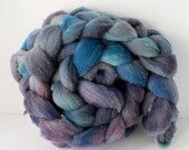 Targhee Roving Purple Turquoise , Spinning Wool, Great for felting #R3