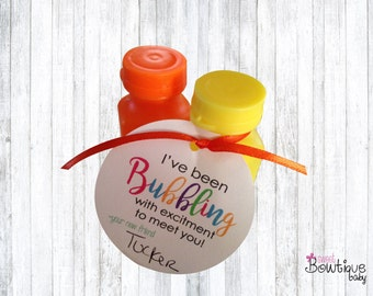 DIY printable I've been BUBBLING to meet you tag