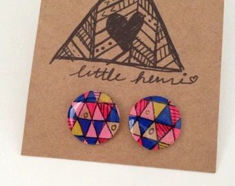 Pink Cobalt Triangle Rounds