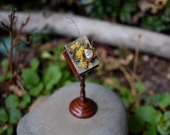 Teeny Tiny Handmade Miniature Woodland Faery Spell Book - Secrets of the Fae