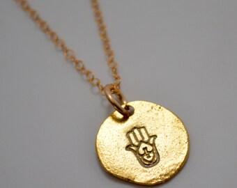 Hamsa Necklace, Hand of God Necklace, Hand of Fatima Necklace, Faith