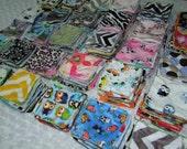 Minky Wash Cloths- Set of 14 - Mini Minky Cloths- Diaper Cloths- Wipes- Ready to Ship