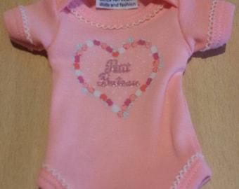 Pink onesie for approx. 10-11 inch ooak or reborn baby
