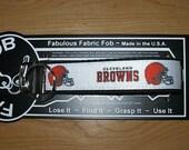 Cleveland Browns NFL Football Team ~ J57 ~ Key Chain Fob ~ Zipper Pull