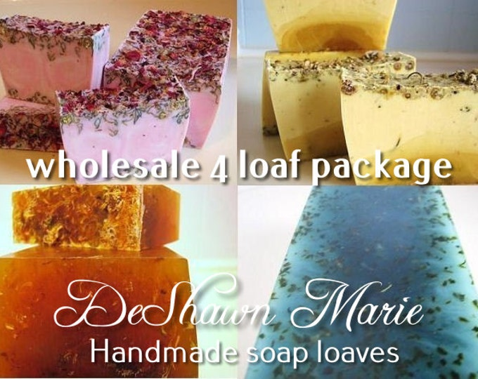 SOAP - 4 assorted 3LB Handmade Glycerin Soap Loaves, Wholesale Soap Loaves, Vegan Soap