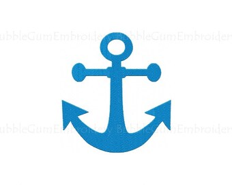 Anchor Embroidery Design Instant Downoad