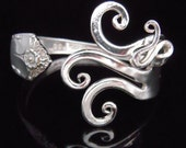 Vintage Jewelry Silver Fork Bracelet in Original Fancy Design Number Seven