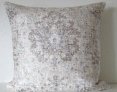 Sariz Pearl distressed velvet persian medallion damask decorative pillow cover
