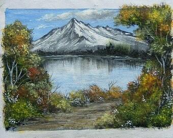 acrylic on canvas art painting original landscape ref 336