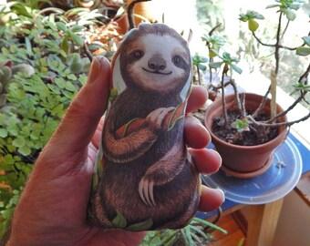 New Pocket Size Baby Sloth Stuffed Mini Toy