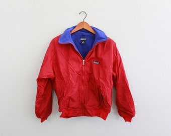Vintage 90s Red and Blue Patagonia Coat