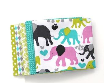Orchid Elephant Walk Fat Quarter Bundle - Michael Miller Fabrics