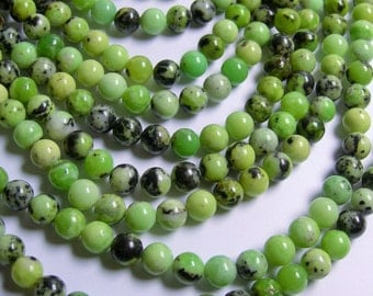 Chrysoprase - 8 mm - round bead - 50 beads - full strand - Chrysoprase gemstone - RFG718