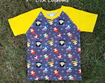 Super hero minions T shirt boys size 9/10 L