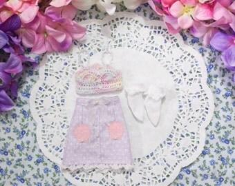 Mermaid pencil skirt bralette crop top pastel special set  - [ Unoa / Minifee / Slim MSD]