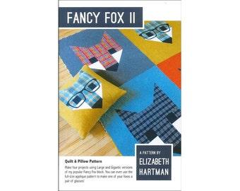 Elizabeth Hartman Fancy Fox II 2 Two  Quilt Pattern Foxes Fox Faces Instructions