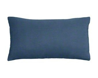 Solid Navy Blue Cotton Decorative Lumbar Pillow Cover - 3 Sizes Available