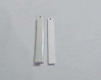 1/4 x 2 1/4 - Aluminum rectangles -1 hole -  20g//1100 blanks  //Earring Blanks//hand stamping blanks//Metal blanks//Stamping blanks//