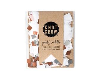 White Copper Confetti Single Serving Size™ / Party Confetti