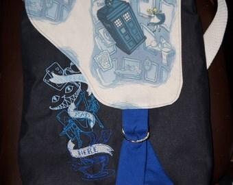 Alice in Wonderland Dr Who K.Hallion Laptop Messenger bag purse