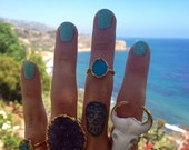 VALENTINES SALE GYPSY Bull /// Electroformed Ring /// Gold