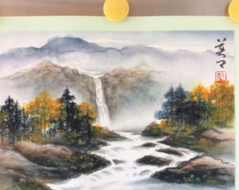 Original Chinese Painting-Natural Scenery(Water Fall)
