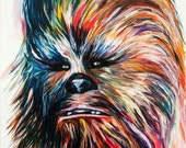 Chewbacca art print 11x14