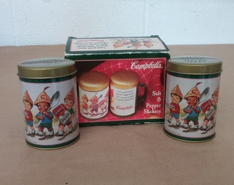 Vintage Pair of Campbell's Soup Salt and Pepper Shakers