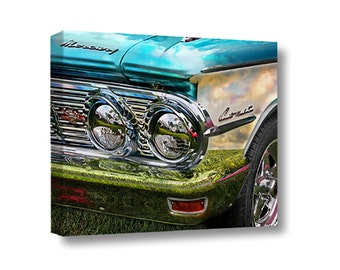 Small Canvas Wall Art Decor Comet Classic Vintage Car