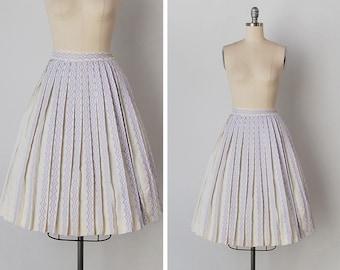 vintage 1950s skirt / 1950s pleated skirt / Bobbie Brooks skirt / La Lavanda skirt
