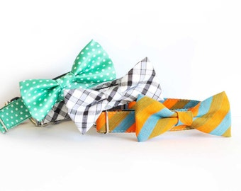 New Colors! bowtie collars for your pet, gift and party, Designer dog collars, Bow Tie Dog and Cat Collar Bow Tie, Dog Collar