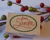 Santa's Tag Stampabilities Rubber Stamp - Destash