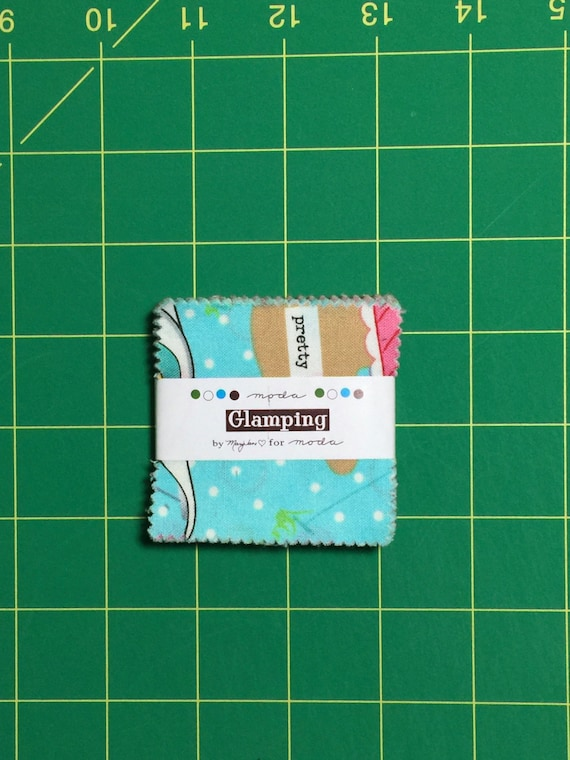 "Glamping Mini Charm Pack 2.5"" squares Mary Jane Butters moda fabrics"