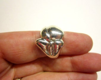 Vintage Sterling Silver Ring 925 Knot Ring Size 8 1/4 Large Heavy Bold Jewelry Ring Bohemian Jewelry Gift Idea under 25