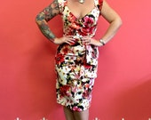 Floral Florence Pinup wiggle Dress