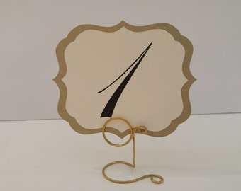 Wedding Table Numbers Elegant Vintage Label Design Shabby Chic Vintage Wedding Table Decor