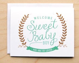 Sweet Baby Boy - Baby Card
