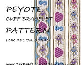 Peyote Cuff Bracelet Pattern Vol.42 - Seashore - PDF File PATTERN