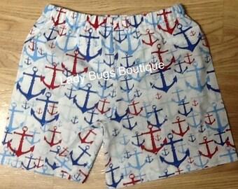 Boys Anchor Shorts. Ready to ship.*****Please Read Shop Announcement*****