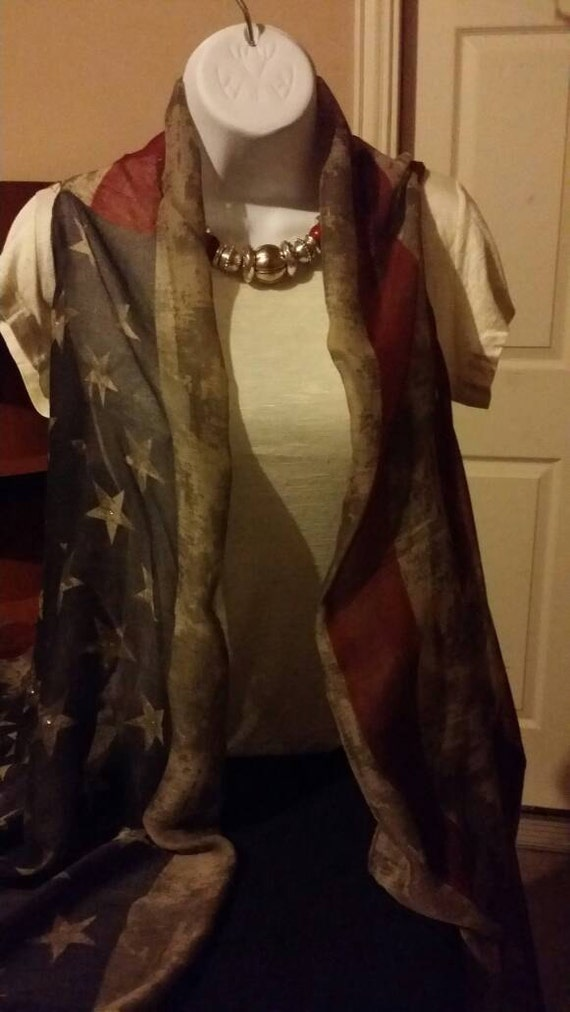 american flag vintage infinity scarf made into by