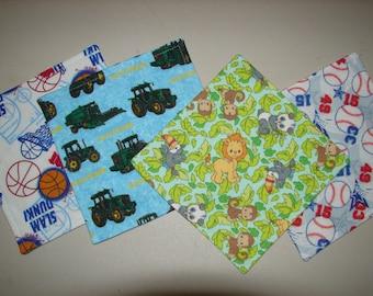 Infant/Toddler Wash Cloth Set, Wash Cloths, Flannel Wash Cloth Set, Wash Rags