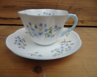 Vintage Blue Rock Shelley Cup and Saucer