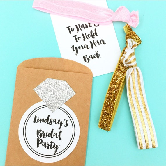 Diamond Envelope Hair Tie Packet for Bachelorette Party or Bridal Shower