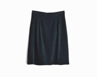 Vintage 90s Pencil Skirt in Midnight Blue / High Waist Skirt / Stretch Blend Skirt - women's medium