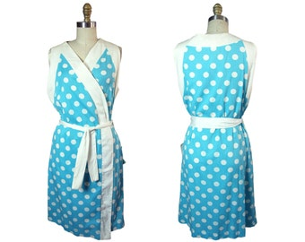 1960s Evelyn Pearson Polka Dot  Wrap Cover UP