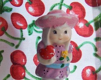 sweet little girl with polka dots figurine