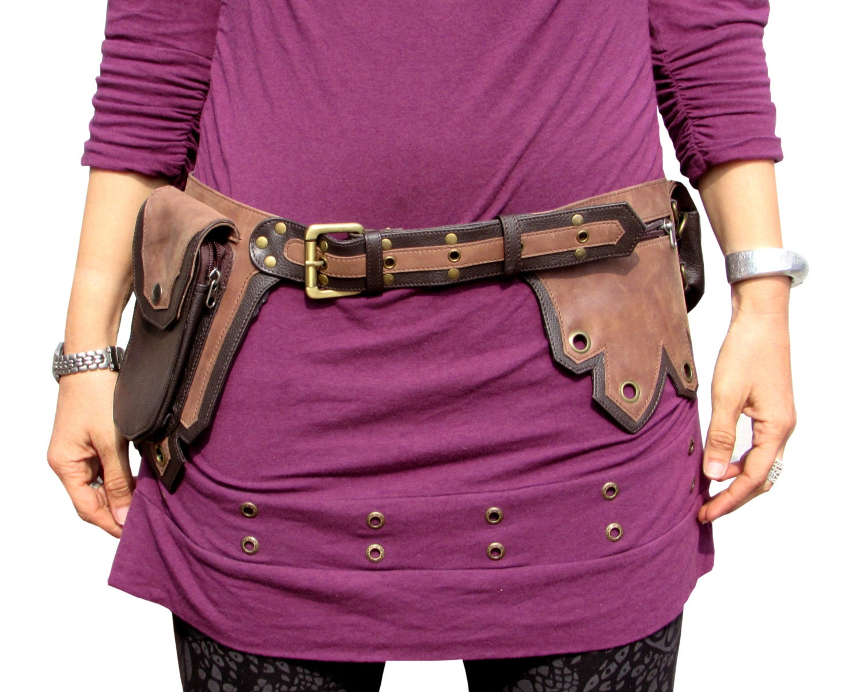 utility belt leather belt bag festival belt pocket belt