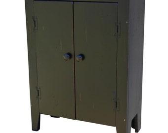 Primitive Rustic Storage Cabinet