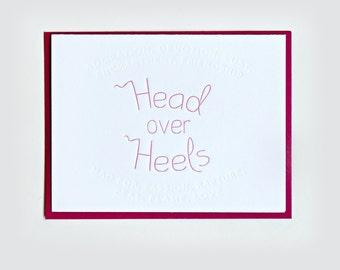 "Synonym | ""Head Over Heels"" Letterpress Love Card"
